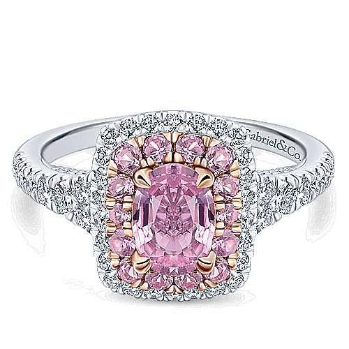 Gabriel - 14K White-Rose Gold Diamond Engagement Ring