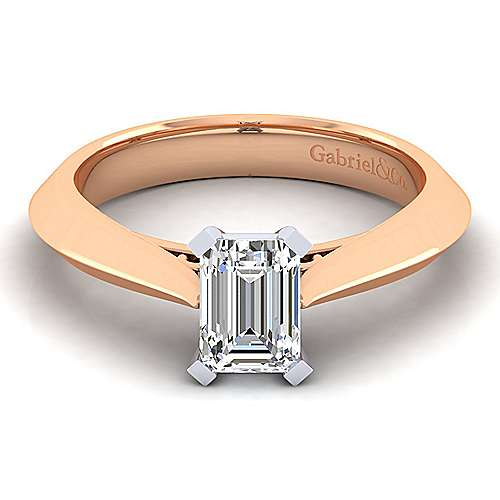 14k White Rose Gold Emerald Cut Diamond Engagement Ring Er8296e4t4jjj Gabriel Co