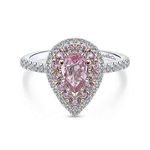 Gabriel - 14K White-Rose Gold Engagement Ring