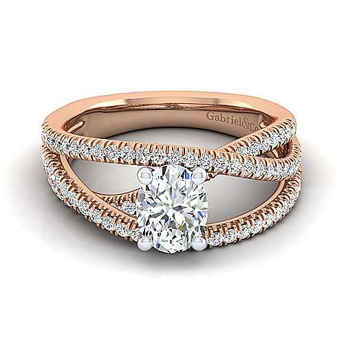 913fd3b0b5f7d 14K White-Rose Gold Oval Diamond Engagement Ring | ER10204O4T44JJ ...