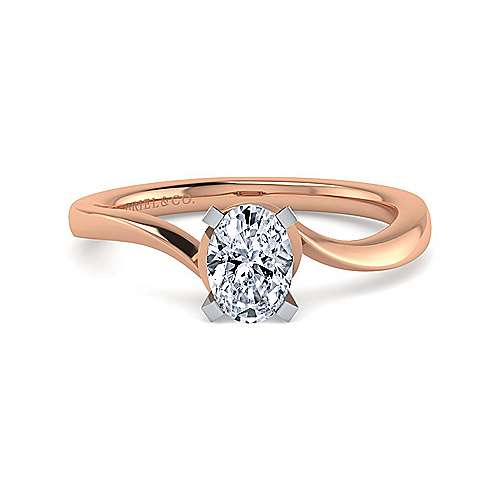 3835de6c0a9a5 14K White-Rose Gold Oval Diamond - ER11588O3T4JJJ