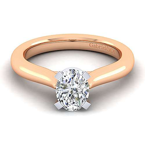 e7f9791391cb5 14K WhiteRose Gold Oval Diamond Engagement Ring - ER6684O4T4JJJ