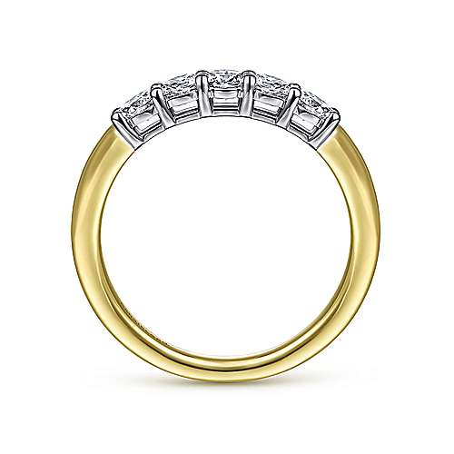 14K White-Yellow Gold Diamond Anniversary Band
