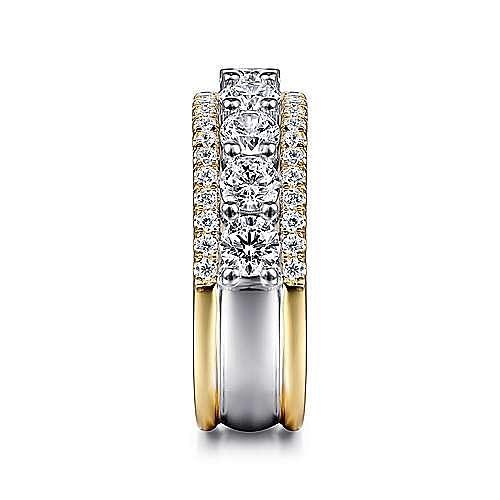 14K White-Yellow Gold Diamond Anniversary Band
