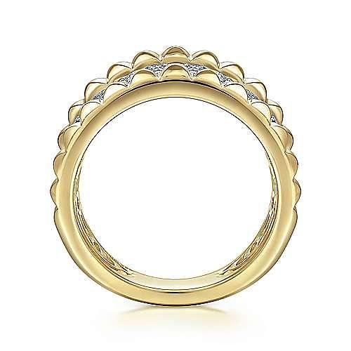 14K White-Yellow Gold Diamond Ladies Ring
