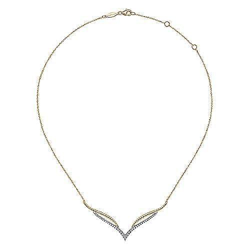 14K White-Yellow Gold Diamond Necklace