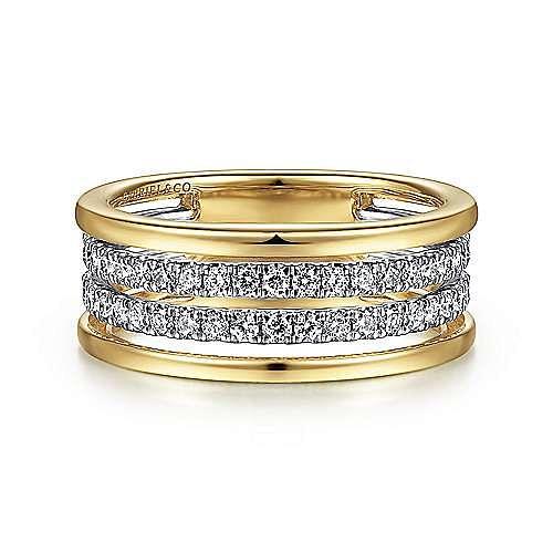 14K White-Yellow Gold Diamond Ring