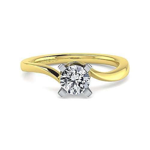 Gabriel - 14K White-Yellow Gold Engagement Ring