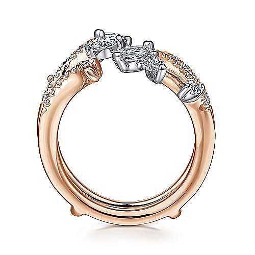 14K White and Rose Gold Diamond Ring Enhancer