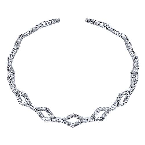 14K Wht Gold Diamond Bracelet