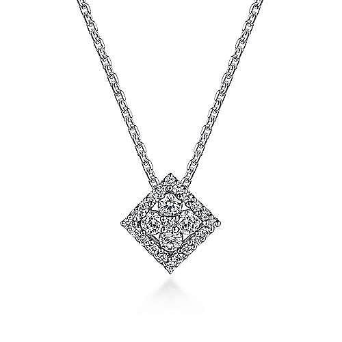 Gabriel - 14K Wht Gold Diamond Necklace
