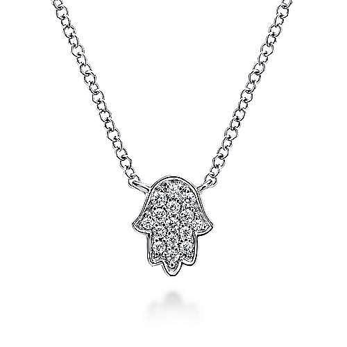 14K Wht Gold Diamond Necklace