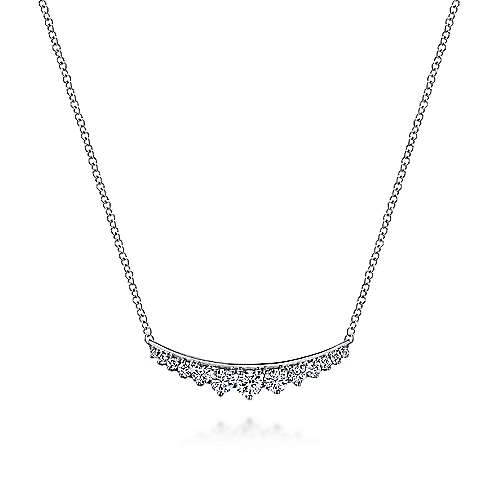 Gabriel - 14K Wht Gold Diamond Necklace