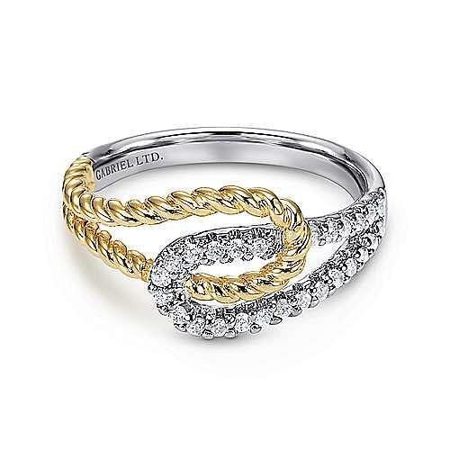 Gabriel - 14K Wht/Ylw Gold Diamond Ring