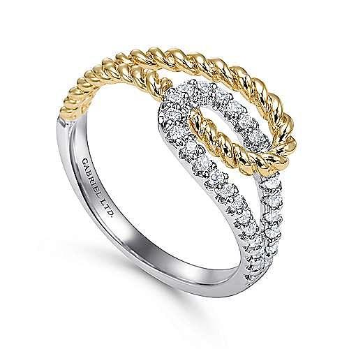 14K Wht/Ylw Gold Diamond Ring