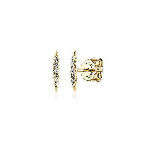 14K Y.Gold Diamond Earrings