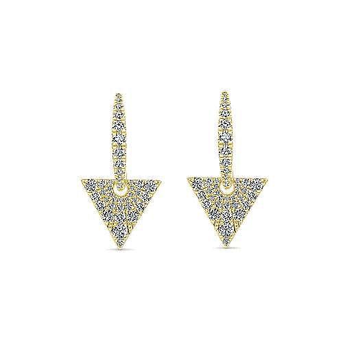 Gabriel - 14K Y.Gold Diamond Earrings