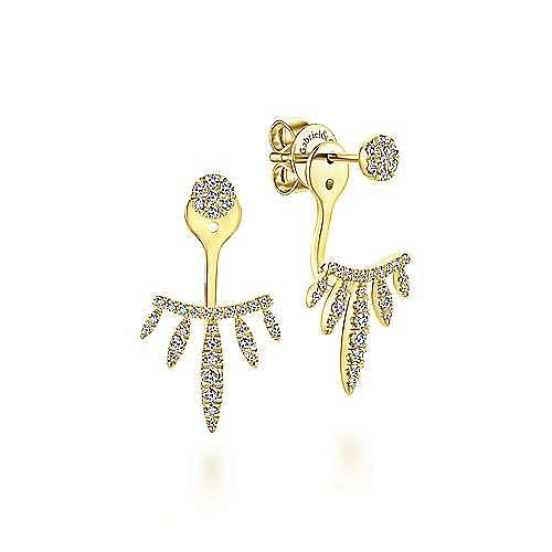 Gabriel - 14K Y.Gold Diamond Earring