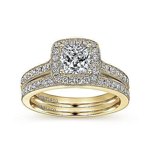 14K Y.Gold Diamond Eng.Ring