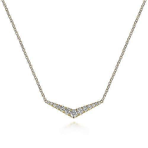 Gabriel - 14K Y.Gold Diamond Necklace