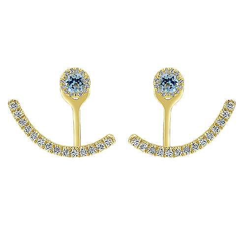 Gabriel - 14K Yellow Gold  Fashion Earrings