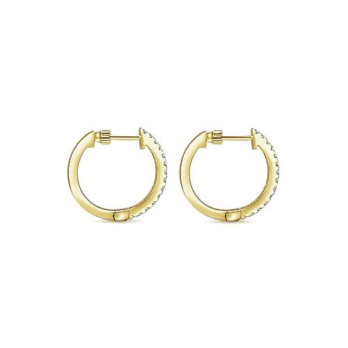 14K Yellow Gold 15MM Fashion Earrings