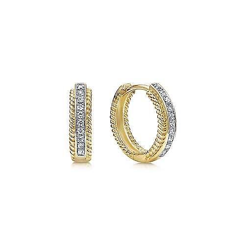 Gabriel - 14K Yellow Gold 15MM Fashion Earrings
