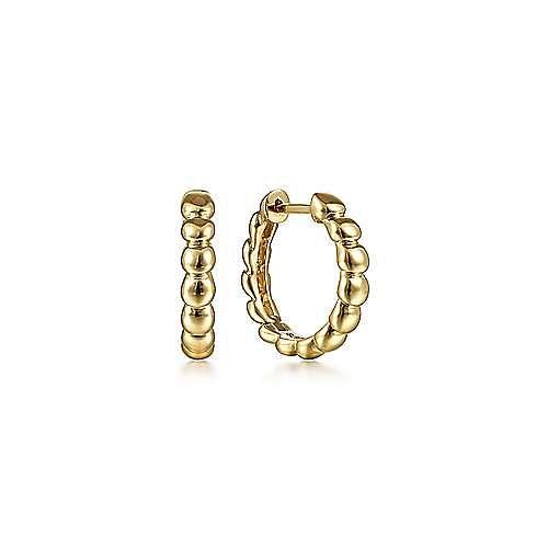 14K Yellow Gold 15mm Bujukan Huggies
