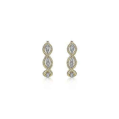 14K Yellow Gold 20MM Fashion Earrings