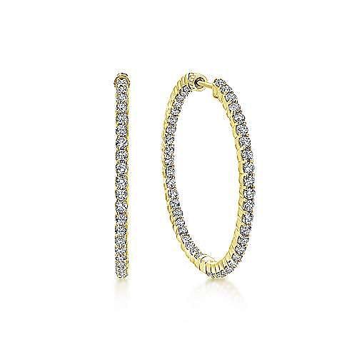 Gabriel - 14K Yellow Gold 35MM Fashion Earrings