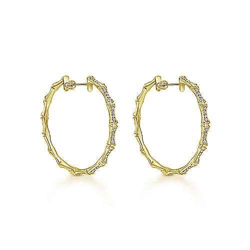 14K Yellow Gold 40MM Fashion Earrings