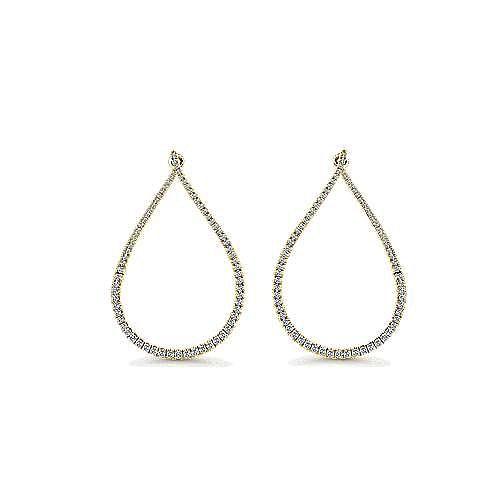 Gabriel - 14K Yellow Gold 45MM Fashion Earrings