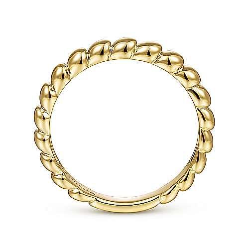 14K Yellow Gold Bujukan Bead Ring