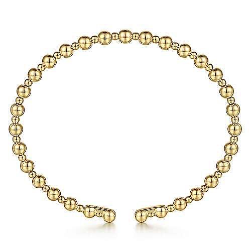 14K Yellow Gold Bujukan Open Bangle