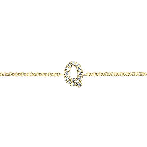 14K Yellow Gold Chain Bracelet with