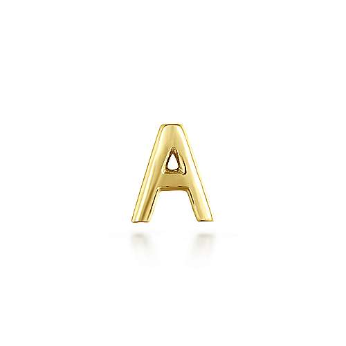 14K Yellow Gold Diamond A Pendant