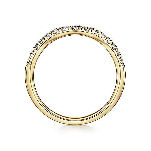 14K Yellow Gold Diamond Anniversary Band