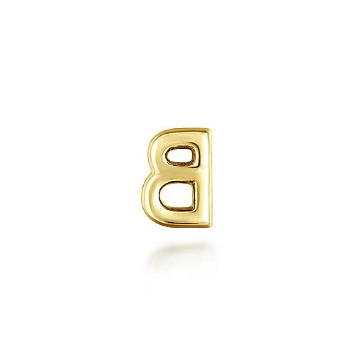 14K Yellow Gold Diamond B Pendant