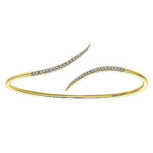 Gabriel - 14K Yellow Gold Diamond Bangle