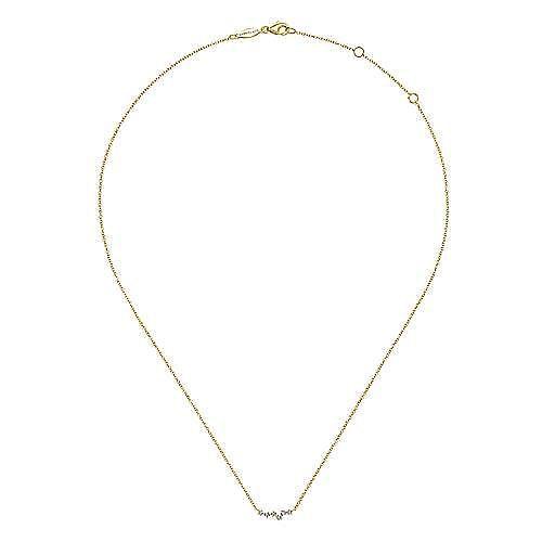 14K Yellow Gold Diamond Constellation Necklace
