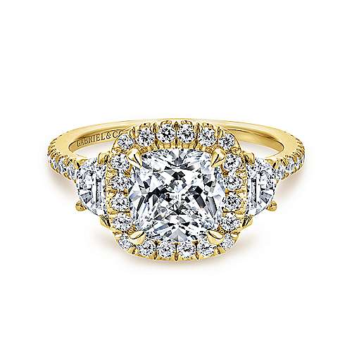 Gabriel - 14K Yellow Gold Diamond Engagement Ring