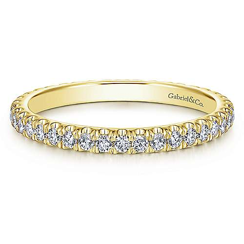 14K Yellow Gold Diamond Eternity Band