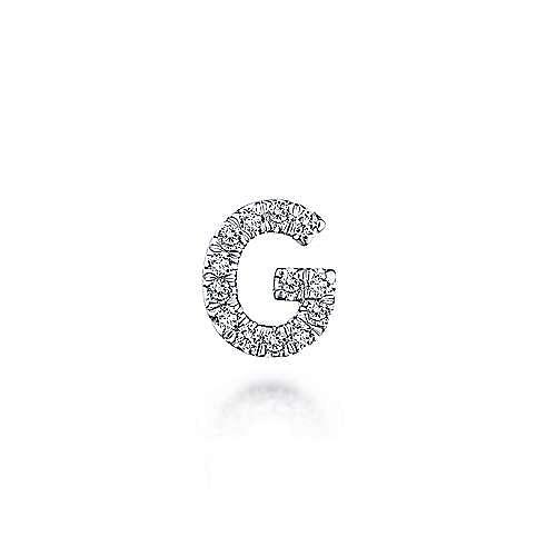 14K Yellow Gold Diamond G Pendant