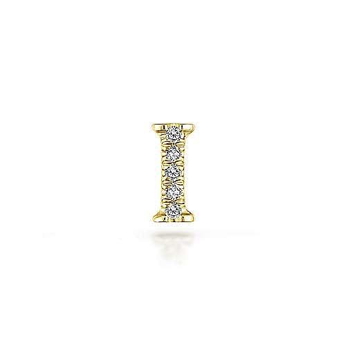 14K Yellow Gold Diamond I Pendant