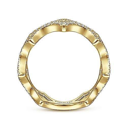 14K Yellow Gold Diamond Ladies Ring