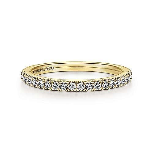 14K Yellow Gold Diamond Matching Wedding Band