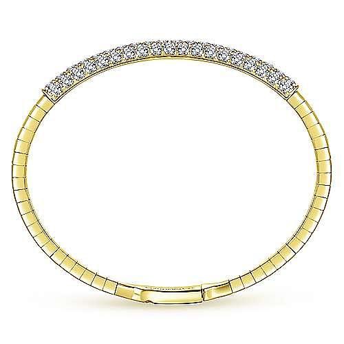 14K Yellow Gold Diamond Pavé Bangle
