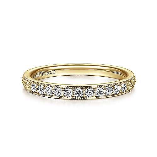14K Yellow Gold Diamond Ring Band
