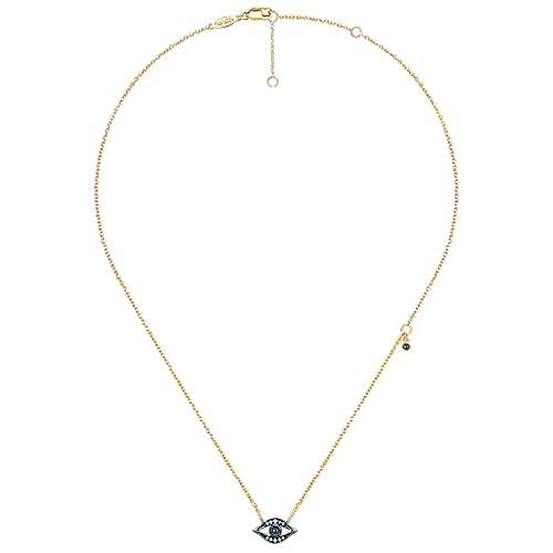 14K Yellow Gold #1 Brother Pendant on an Adjustable 14K Yellow Gold Chain Necklace