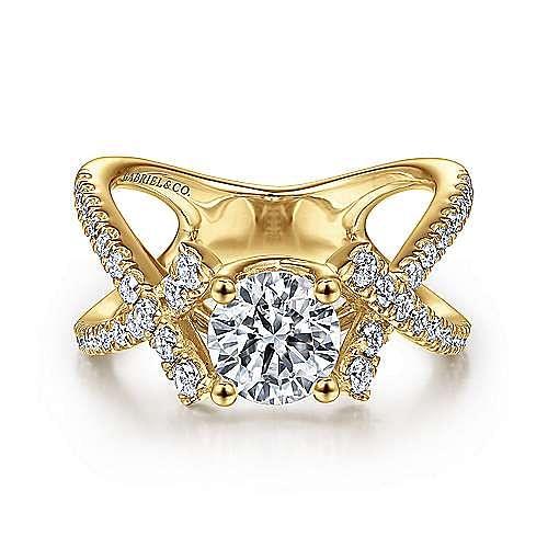 Gabriel - 14K Yellow Gold Engagement Ring